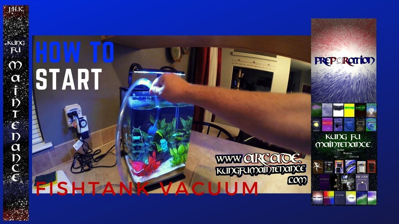How to start aquarium vacuum siphon tube clean vacuuming for How to keep fish tank clean without changing water