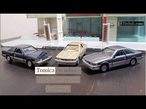 Tomica Premium Nissan Leopard: Gold And Blue
