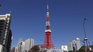 【4K】快晴の東京タワーを眺める高画質動画 【movie fine チャンネル】h...