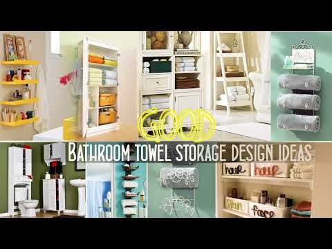 Top 40+ Bathroom Towel Storage Design ideas | Best DIY Wall Mounted Rack Cabinets Walmart Shelf 2018