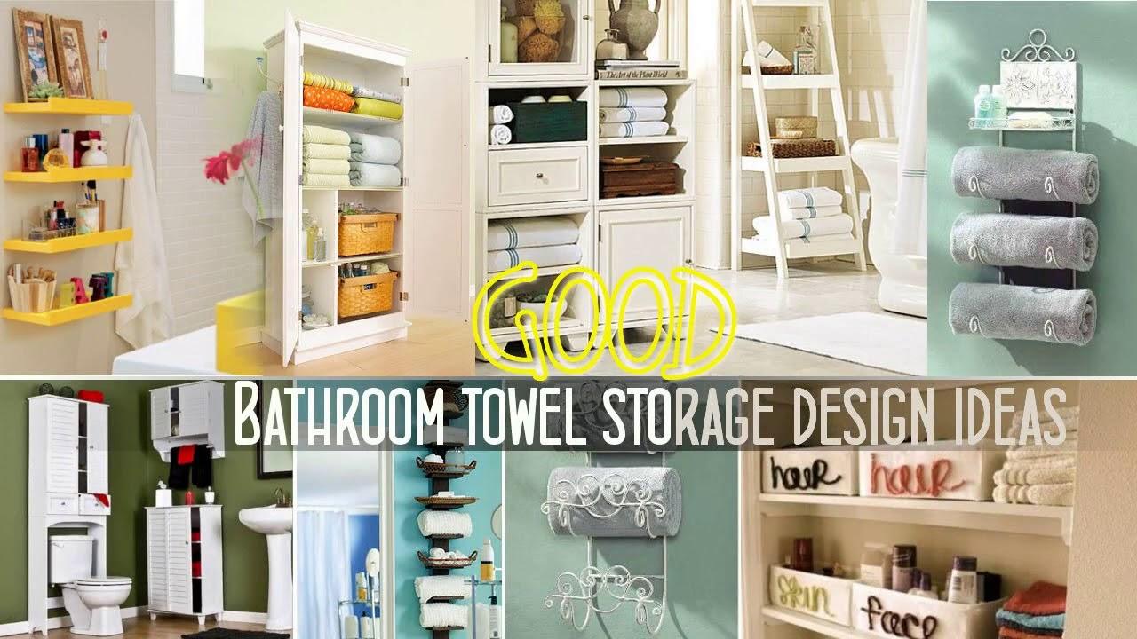 Top 40+ Bathroom Towel Storage Design ideas   Best DIY Wall Mounted Rack  Cabinets Walmart Shelf 2018
