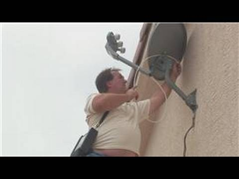 Satellite Television Info : How to Install a Satellite Dish - YouTube