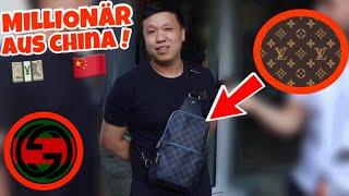 WIE VIEL IST DEIN OUTFIT WERT ?💰🇨🇳 MILLIONÄR AUS CHINA 🇨🇳💰| STREET UMFRAGE | LION