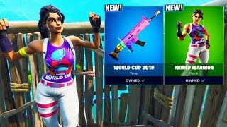 The New WORLD CUP SKINS + FREE ITEMS! (Fortnite Battle Royale)
