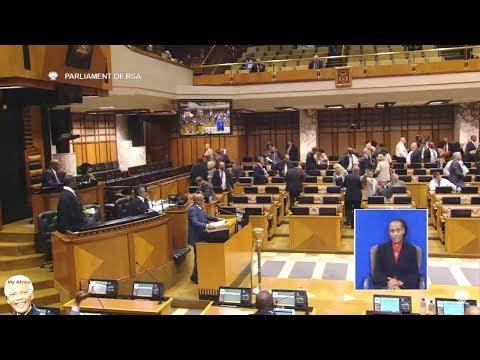 Drama In Parliament   DA vs Jacob Zuma -   DA Walks Out