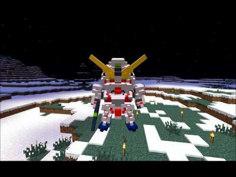 【Minecraft】ガンダムユニコーンを作って・・・た 【JointBlock】