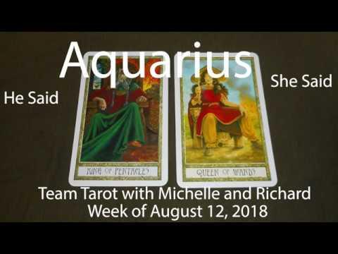 Aquarius WINNING AN EX BACK? August 12th to 18th 2018 He Said She Said  Tarot Reading