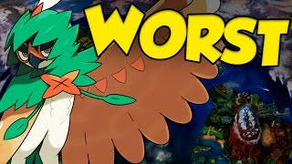 TOP 10 MOST DISAPPOINTING POKEMON IN POKEMON SUN AND MOON - WORST 7th GEN POKEMON