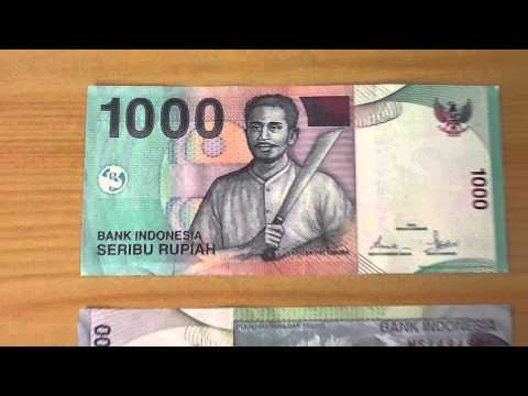The 1.000 Seribu Rupiah Papermoney Note Of Indonesia From 2009