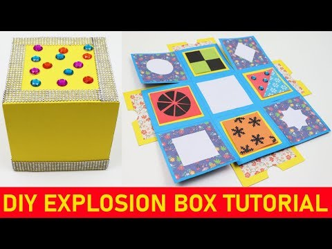 How to Make Explosion Box - DIY Explosion Box Tutorial - Paper Explosion Box for Beginners Making