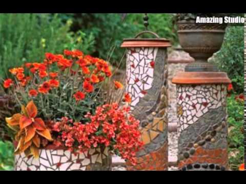 garten blumentöpfe mosaik entwurf - youtube, Gartenarbeit ideen