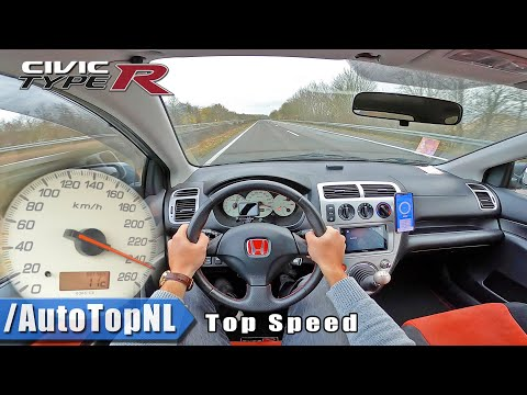 HONDA CIVIC TYPE R EP3 | TOP SPEED POV On AUTOBAHN (NO SPEED LIMIT) By AutoTopNL