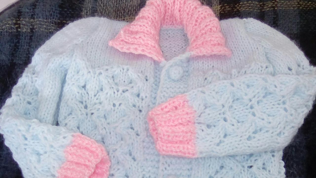 """Fabuleux Tuto:point ajouré au tricot aux aiguilles """"petit cœur""""/ponto  LX55"""