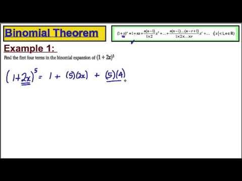 Core 4 Maths A-Level Edexcel - Binomial Theorem (1)