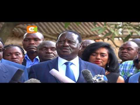 Odinga accuses the US of meddling in Kenyan politics