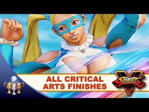 Street Fighter V - All Critical Arts Finishes Combo Moves (Critical Beauty) Ultra Moves