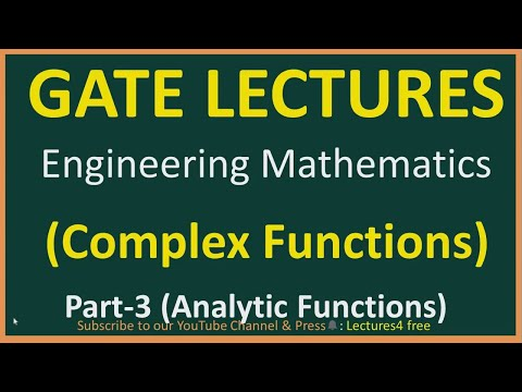 Complex Functions Part-3 (Analytic Function) || Engineering Mathematics for GATE