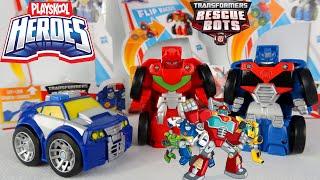 Robot Transformers Rescue Bots   Truk Optimus Prime Mobil Polisi Chase Sideswipe   Mainan Anak Laki