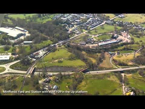 Cessna flight from Caernarfon to Llanbedr and return over Snowdonia