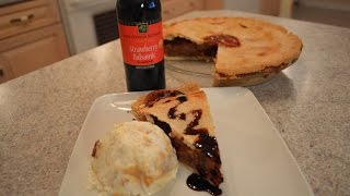 How To Bake Napa Valley Strawberry Balsamic Rhubarb Pie: Cooking With Kimberly