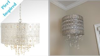 Pier1 Inspired DIY ||💕 Bohemian Crystal Chandelier 💕|| Decorating Ideas