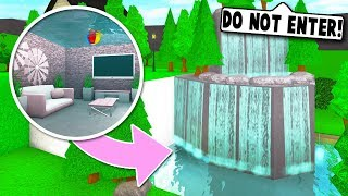 I MADE A *SECRET* WATERFALL ENTRANCE TO MY UNDERWATER BASE ON BLOXBURG! (Roblox)