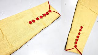Latest Sleeves Design With Button Cutting And Stitching Youtube