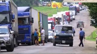 Прикарпатцы перекрыли дорогу, соединяющую Стрый и Черновцы - Чрезвычайные новости, 30.07