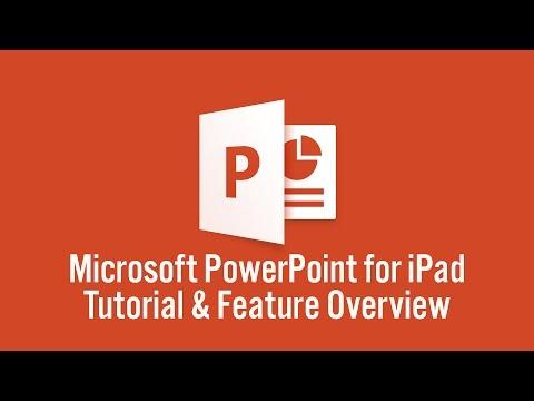 Microsoft PowerPoint for iPad Tutorial (2015)