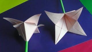 Оригами цветок лилия. Как сделать оригами цветы из бумаги своими руками // origami flower lily
