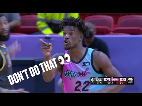 """Jimmy Butler Tells Lakers """"Don't Do That"""" After Andre Drummond Switches Onto Him"""