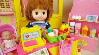 Baby doll Mart and food shop play with Poli car toys Free HD Video