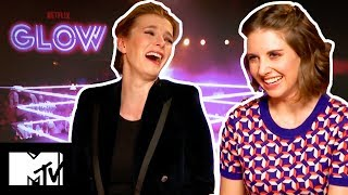 Glow Cast Play NEVER HAVE I EVER!   MTV Movies