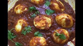 EGG CURRY ( Simple & Spicy ) side dish for chapathi/dosa/rice