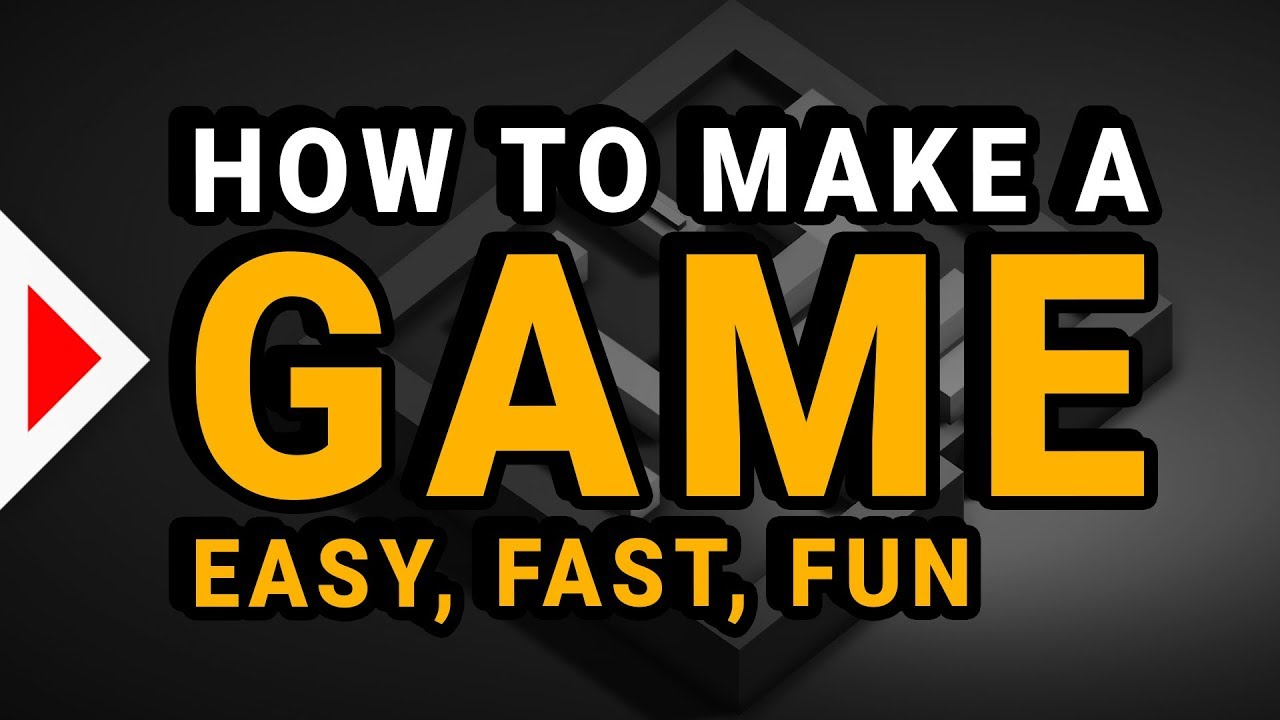 How to make Your First Game TODAY! - (Unity 3D)