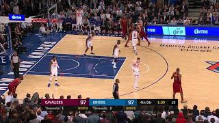 LeBron James Clutch Three! Cavs vs Knicks 11-13-17