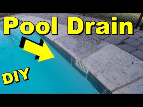 Swimming Pool Drain Problems Overflow Drain Youtube