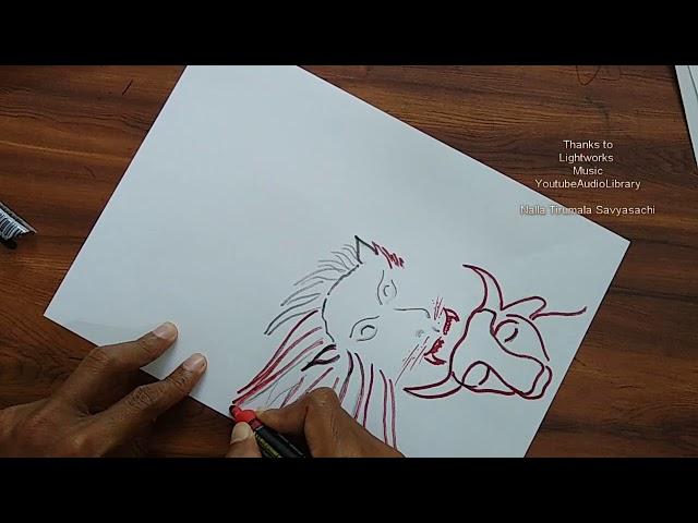 Goddess Durga Devi  Drawing