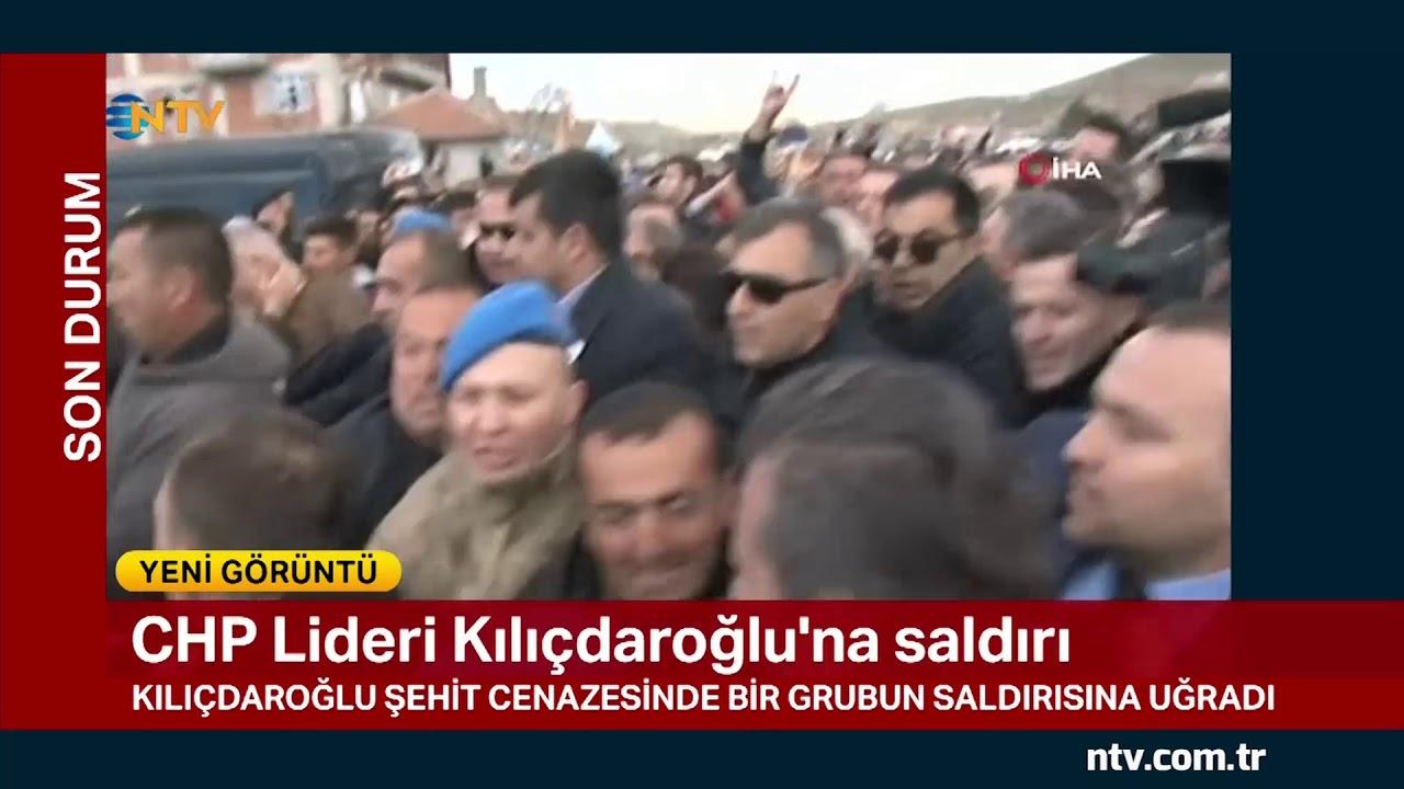 CHP Lideri Kılıçdaroğlu'na saldırı... (Şehit cenazesinde saldırı)