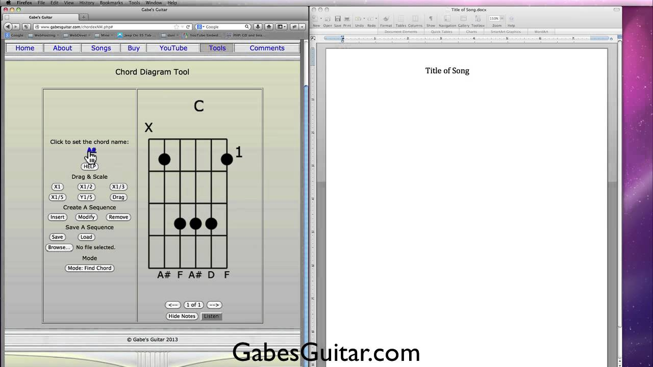 Guitar Chord Diagrams Youtube