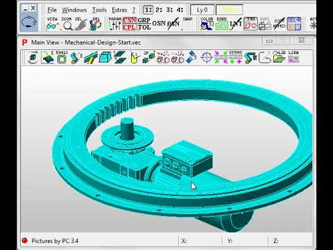 Mechanical Construction Machine Design Pictures By Pc Cad Cam Software Youtube