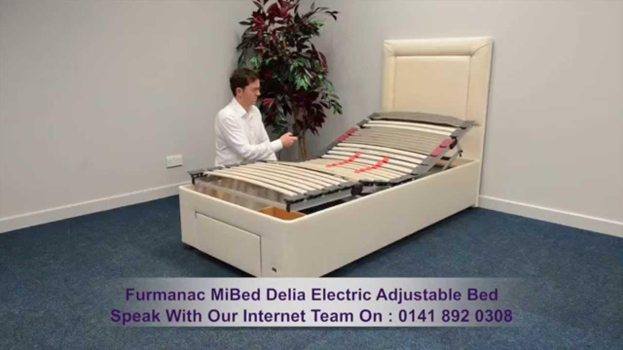 Furmanac MiBed Delia Electric Adjustable Bed - YouTube