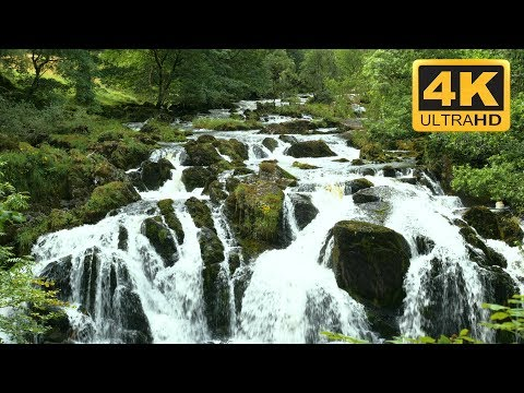 TV Wallpaper Waterfall  in Wales UK 4K resolution