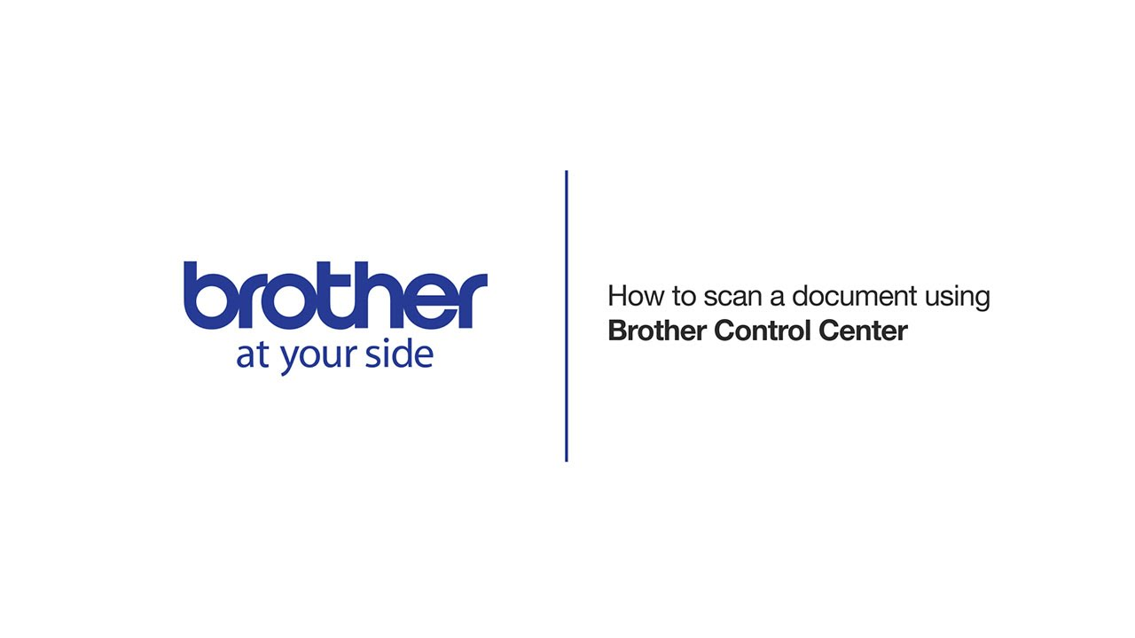 How to scan a document using Brother Control Center