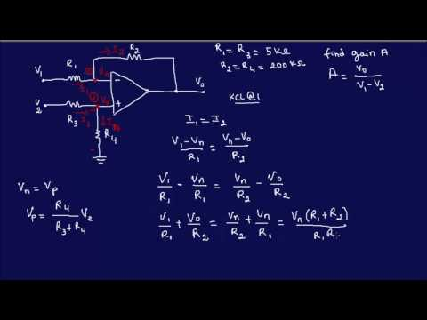 OpAmp Circuit Analysis Example 5-FE/EIT Review