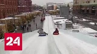 видео В Ярославской области построили гигантскую снежную горку