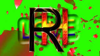 R Love H Letter Green Screen For WhatsApp Status | R & H Love,Effects chroma key Animated Video