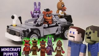 Five Nights at Freddy's fnaf Lego Figures McFarlane toys Minecraft show stage, office, pirates cove