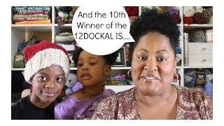 Day 10 Winner of the 12 Days of Christmas KAL (bonus: Alexis sings)