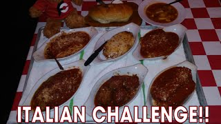 MAN VS FOOD 7LB ITALIAN FOOD CHALLENGE!!